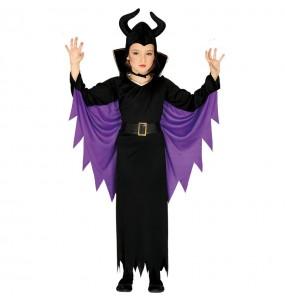 Vestito Malefica bambine per una festa ad Halloween