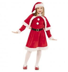 Costume da Mamma Natale rossa per bambina