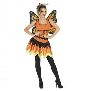 Costume da Farfalla arancione per donna