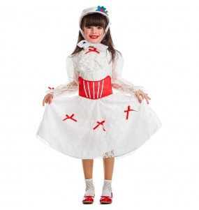 Travestimento Mary Poppins Bianco bambina che più li piace