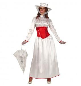 Travestimento Mary Poppins Bianca donna per divertirsi e fare festa