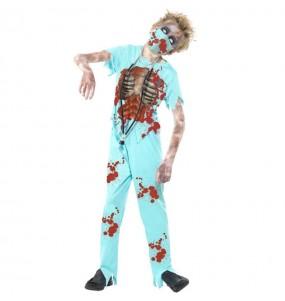 Travestimento Dottore zombie bambini per una festa ad Halloween