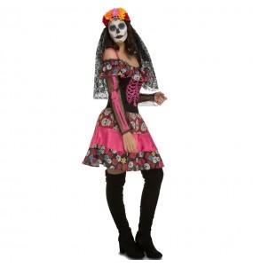 Costume da Catrina della morte messicana per donna