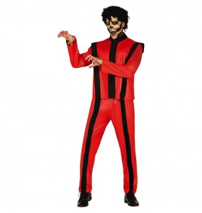 Travestimento Michael Jackson thriller adulti per una serata ad Halloween
