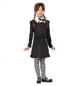 Vestito Mercoledì addams bambine per una festa ad Halloween