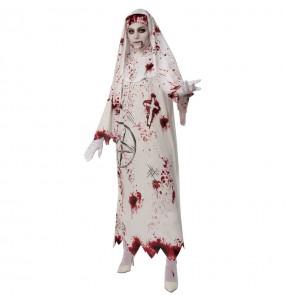 Costume Suora insanguinata donna per una serata ad Halloween