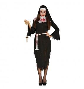 Costume Suora zombie donna per una serata ad Halloween