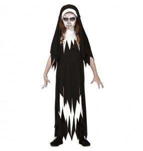 Vestito Suora Valak bambine per una festa ad Halloween