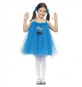 Travestimento Cookie Monster con Tutù bambina che più li piace