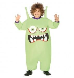Travestimento Mostro verde gonfiabile bambini per una festa ad Halloween