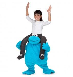 Travestimento Cookie Monster Sesame Street bambino a cavallucio che più li piace