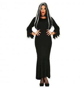Costume Morticia Addams donna per una serata ad Halloween
