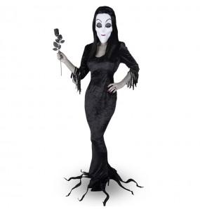 Costume Morticia Famiglia Addams donna per una serata ad Halloween