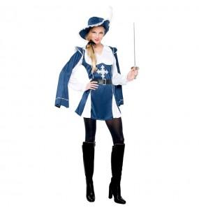 Travestimento Moschettiere Blu donna per divertirsi e fare festa
