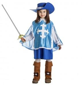 Costume da Moschettiera blu per bambina
