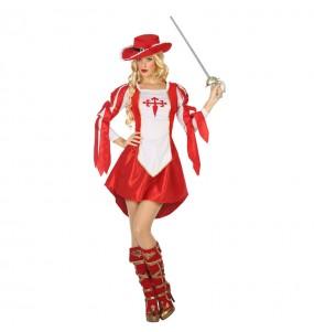 Travestimento Moschettiera Rossa donna per divertirsi e fare festa