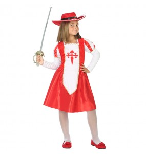 Travestimento Moschettiera Rossa bambina che più li piace