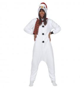 Travestimento pupazzo di neve donna per divertirsi in Natale