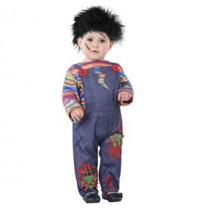 Costume da Bambola insanguinata Chucky per neonato