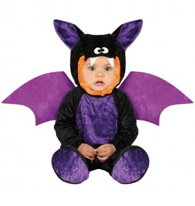 Travestimento pipistrello viola neonati con il quale il tuo bambino farà paura