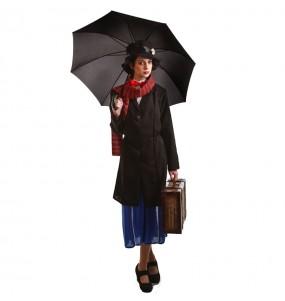Travestimento Supertata Mary Poppins donna per divertirsi e fare festa