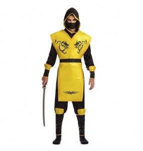 Travestimento Ninja Giallo adulti per una serata in maschera