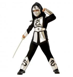 Travestimento Ninja Drago Argentato bambino che più li piace