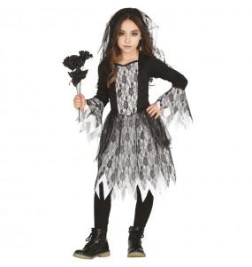 Costume da Sposa cadavere gotica per bambina