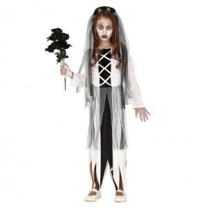 Vestito Sposa zombie bambine per una festa ad Halloween