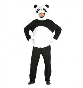 Travestimento Orso panda testone adulti per una serata in maschera