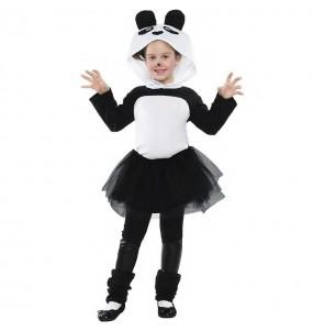 Costume da Orso panda con tutù per bambina