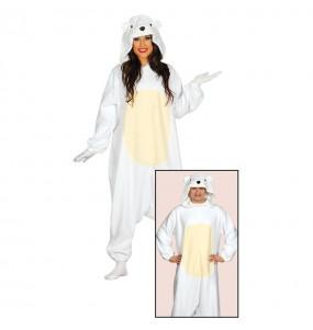 Travestimento Giapponese Orso Polare Kigurumi adulti per una serata in maschera