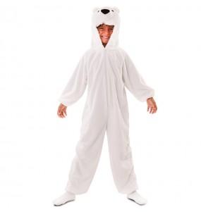 Travestimento Orso polare di peluche bambino che più li piace