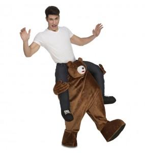 Travestimento adulto Orso marrone a cavallucio per una serata in maschera