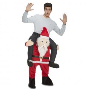 Travestimento adulto Babbo Natale a cavallucio per una serata in maschera