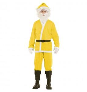 Costume da Babbo Natale Giallo uomo