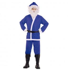 Costume da Babbo Natale Blu uomo