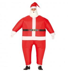 Travestimento Babbo Natale gonfiabile adulti per una serata di Natale