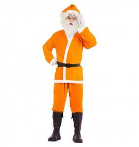 Costume da Babbo Natale Arancio uomo