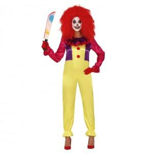 Costume Pagliaccia Assassina Pennywise donna per una serata ad Halloween