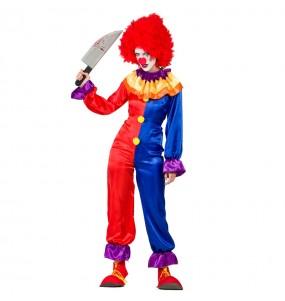 Costume Pagliaccia Diabolica donna per una serata ad Halloween