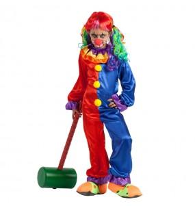 Vestito Pagliaccia Diabolica bambine per una festa ad Halloween