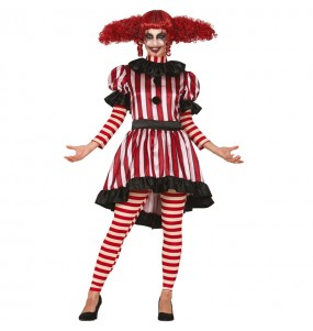 Costume da Pagliaccia Orrore per donna