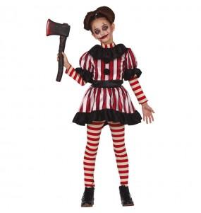 Costume da Pagliaccia Orrore per bambina