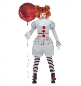 Costume Pagliaccia IT Pennywise donna per una serata ad Halloween