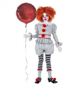 Vestito Pagliaccia IT Pennywise bambine per una festa ad Halloween