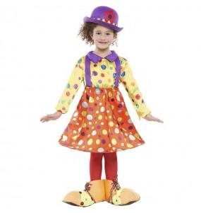 Costume da Pagliaccia a pois per bambina