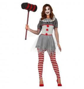 Costume Pagliaccia cattiva donna per una serata ad Halloween