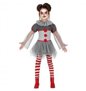 Vestito Pagliaccia cattiva bambine per una festa ad Halloween