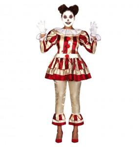 Costume Pagliaccia disturbata donna per una serata ad Halloween